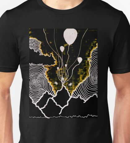 Mountain Balloons in the Sky Unisex T-Shirt