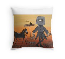 Ned Kelly  Last grass horsey Throw Pillow