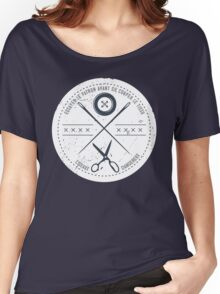 Funny sewing seamstress French danger scissors Women's Relaxed Fit T-Shirt