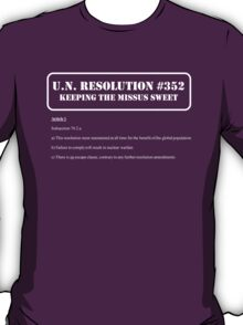 UN Resolution T-Shirt T-Shirt