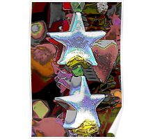 Christmas decorative star Poster