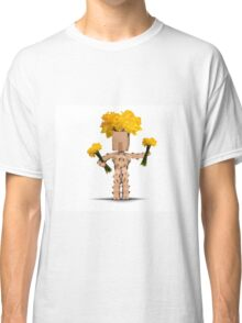 Boxman holding bunches of daffodils Classic T-Shirt