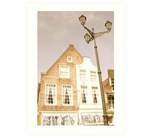Delft: Lamp and shop on the Market Square Art Print