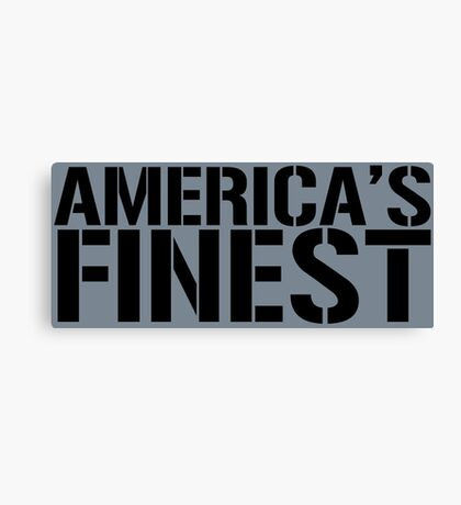 America's Finest, Marines, Army, Navy, Air Force, Coast Guard Canvas Print