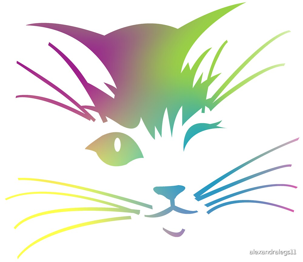 The Rainbow Cat by alexandralegs11