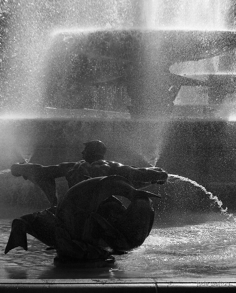 Trafalgar Square Fountain by jude walton