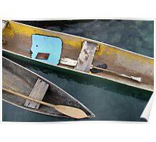 Canoes, Solomon Islands Poster