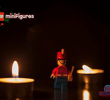 Toy soldier christmas lights by Peter Kappel
