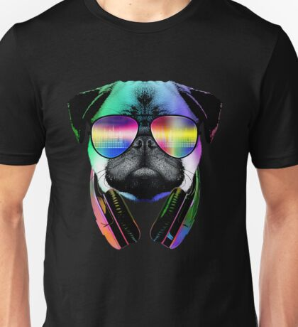 Music Love Pug Unisex T-Shirt