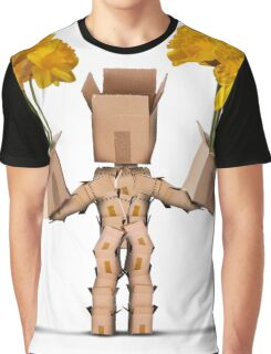 Boxman character holding two boxes of flower Graphic T-Shirt