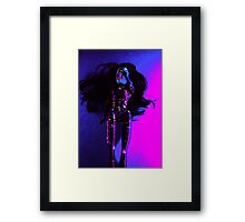 Neon Barbie Framed Print