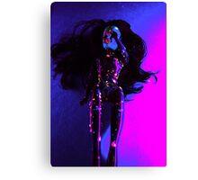 Neon Barbie Canvas Print