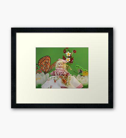 tiny Princess Thumbelina Framed Print