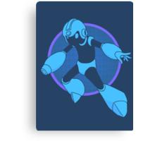 Retro Blue Hero Canvas Print
