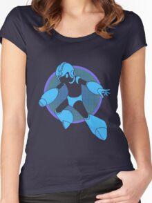 Retro Blue Hero Women's Fitted Scoop T-Shirt