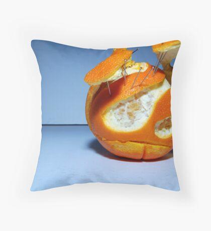 Mr. Orange Throw Pillow