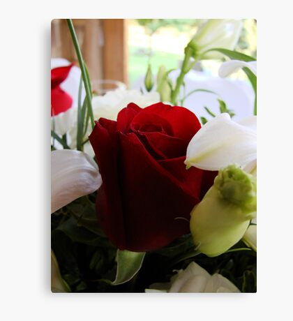 Wedding Roses Canvas Print