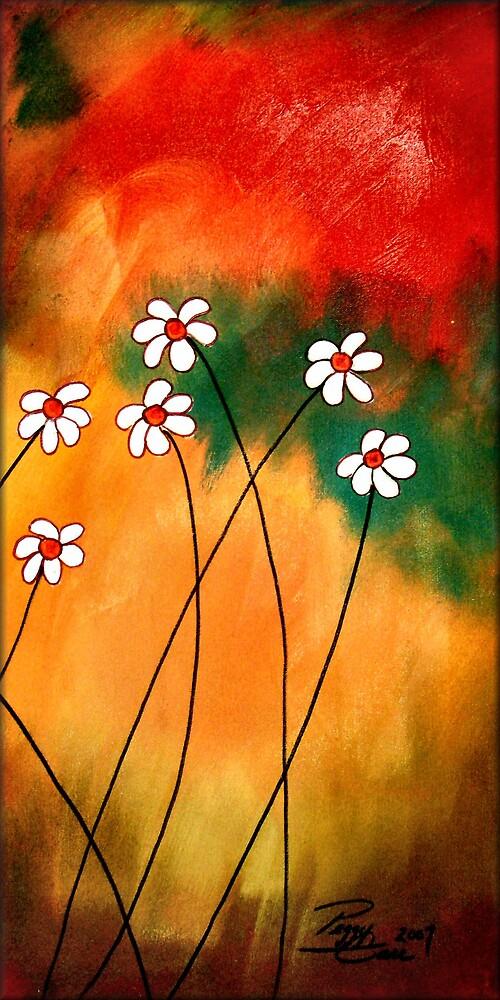 Dynamic Daisies 3 by Peggy Garr
