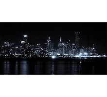 Neon Lights and Clear Skies Photographic Print