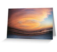 destin sunset Greeting Card