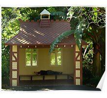 Sleepy Sunny Day, Botonic Gardens Geelong Poster