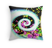 Spirals of Color (altered)  Throw Pillow