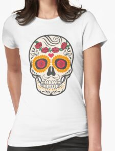 skull rose Womens Fitted T-Shirt