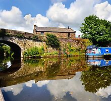 Lancaster Canal Reflections  by Gary Kenyon