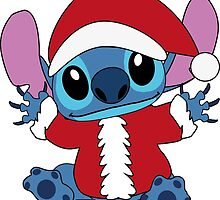 Cute christmas Stitch in Santa costume by LikeYou