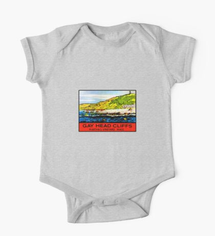 Gay Head Cliffs Marthas Vinyard Vintage Travel Decal One Piece - Short Sleeve