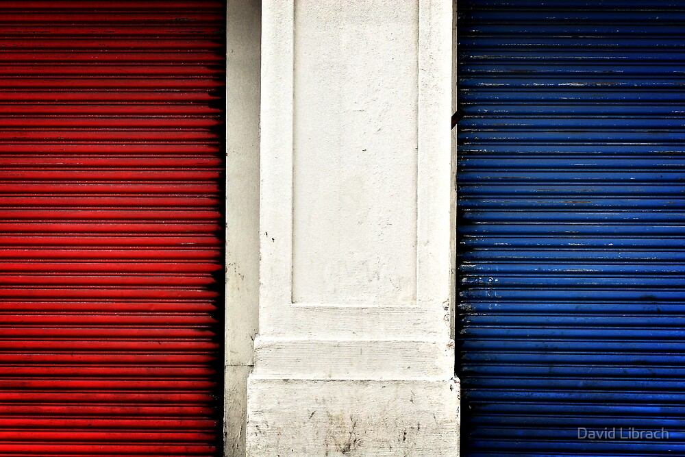 Red, White and Blue I by David Librach - DL Photography -