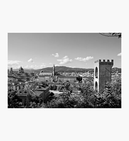 black and white Florence landscape Photographic Print