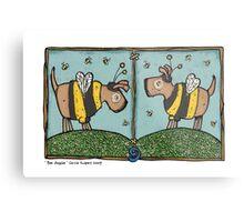 Bee doggies Metal Print