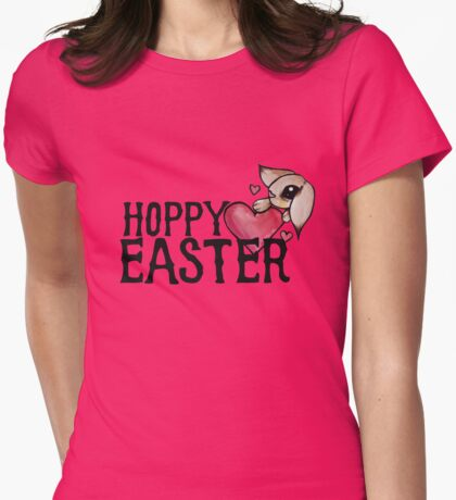 Hoppy Easter Womens Fitted T-Shirt
