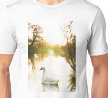 Swan on the Thames  Unisex T-Shirt