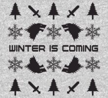 Winter Is Coming | Game of Thrones Ugly Christmas Sweater by ABFTs