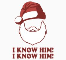 Santa!? I Know Him! I Know Him! | Buddy The Elf Christmas Movie Quote, Santa Shirt, Ugly Christmas Sweater by ABFTs