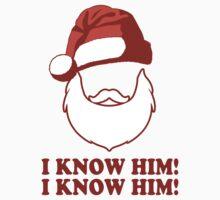 Santa!? I Know Him! I Know Him! | Buddy The Elf Christmas Movie Quote, Santa Shirt, Ugly Christmas Sweater One Piece - Short Sleeve
