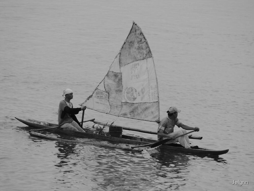 keep on paddling by Jelynn