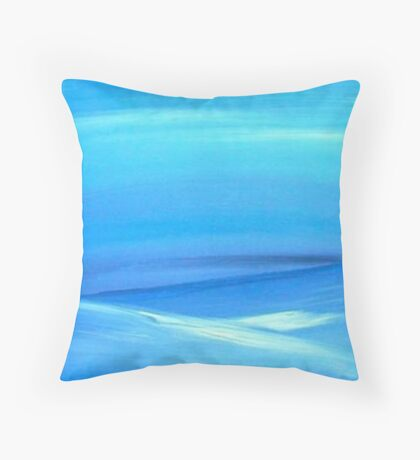 The Hills of Blue Throw Pillow