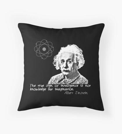 Albert Einstein imaginación Throw Pillow