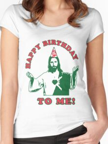Happy Birthday To Me! | Jesus Christmas Funny Quote Ugly Sweater Women's Fitted Scoop T-Shirt
