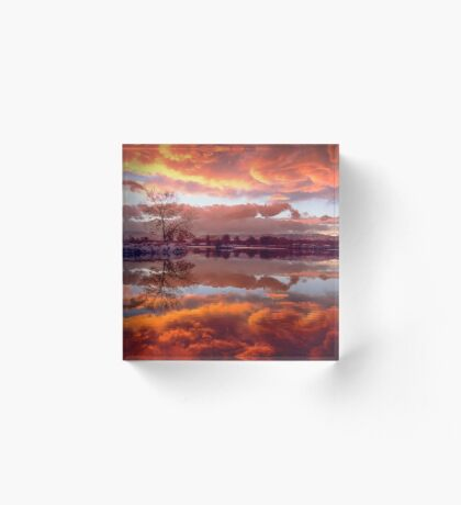 Rolling Thunder Sunset Acrylic Block