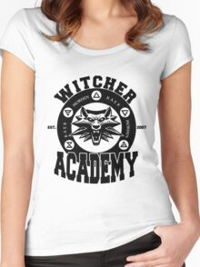 Witcher Academy (black) Women's Fitted Scoop T-Shirt
