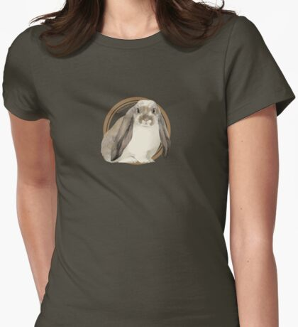 English Lop Rabbit (plain) Womens Fitted T-Shirt