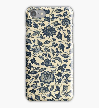 Vintage Floral Pattern - Traditional Ethnic Asian Flowers And Leaves  iPhone Case/Skin