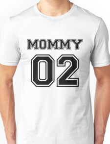 Numbered FAMILY : MOMMY 02 BLACK Unisex T-Shirt