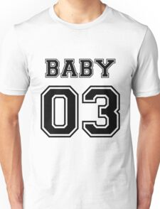Numbered FAMILY : BABY 03 BLACK Unisex T-Shirt