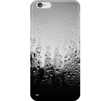 Black and White Raindrops iPhone Case/Skin