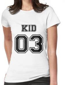 Numbered FAMILY : KID 03 BLACK Womens Fitted T-Shirt